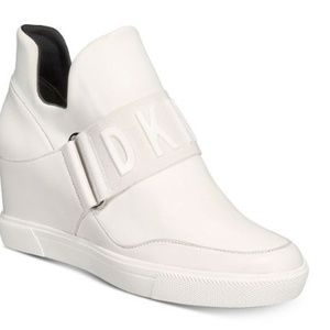 DKNY Cosmos Wedge Leather Sneakers